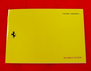 Ferrari 348/512TR - RARE Original Owners Handbook - 1991 USA Supplement Ita/Eng