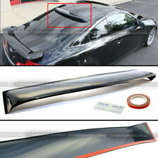 Fit 03-07 Infiniti G35 2DR Black Tinted Rear Window Roof Vent Visor Spoiler Wing