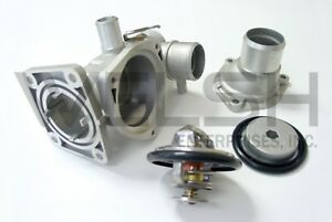 Jaguar S-Type (V8) Aluminum Thermostat Housing Kit WITH THERMOSTAT - NCE2247