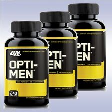 OPTIMUM NUTRITION OPTI-MEN MULTIVITAMINS (3-PACK: 240 TABLETS EA) bcaas optimen