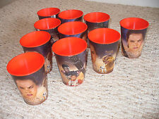 Lot of 10 Star Wars Force Awakens 16 oz Drinking Cups Plastic Stackable PBA Free