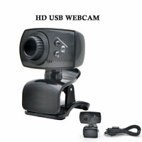 USB HD PC Web Cam Camera Webcam Built-in Sound-absorbing Microphone +3 LEDs UK