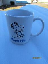 Snoopy Coffee Mug Met Life Peanuts Gang TV Cartoon Advertising