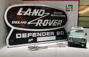 Land Rover Defender 90 Heritage Ltd Edition Cast Aluminium Grill OEM Tub Badge