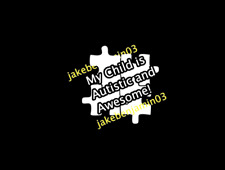 My Child is Autistic and Awesome!  Autism Awareness Decal- WHITE NiCE!!USA - USA