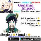 [America/NA/Europe/EU/Asia/AS] Genshin Impact Venti Starter Account