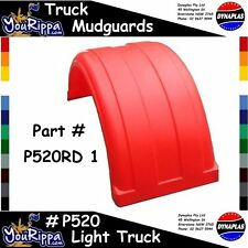 LIGHT TRUCK MUDGUARD RED P520 WIDE DYNAPLAS 4X4 FLARE TOW TILT SLIDE BODY TRAY