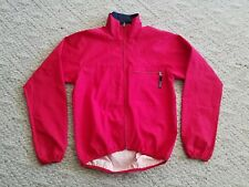 VINTAGE MEN'S PATAGONIA FULL ZIP WIND JACKET COLOR RED SIZE SMALL S HIKE BIKE