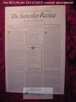 SATURDAY REVIEW August 22 1931 Andre Maurois Kenneth Sauders Charles Upson Smith