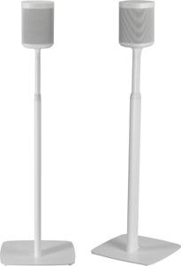 Flexson Adjustable Height Floor Stands Sonos One (Gen:2) SL Play:1 Pair 2 White