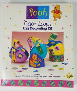 Vintage NIP Disney Winnie the Pooh Color Loops Easter Egg dying kit w/ stickers