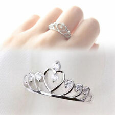 Rhinestone Heart Alloy Costume Rings