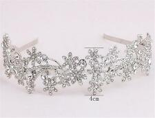 Rhinestone Alice band Crystal Wedding Dress Accessories Diamante Bridal Headband