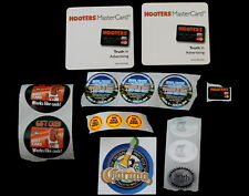 Vtg Hooters Girl Uniform Promotional Stickers Coasters Corona Lot 15