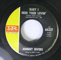 Rock 45 Johnny Rivers - Baby I Need Your Lovin' / Gettin' Ready For Tomorrow On