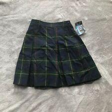 Dennis Uniform Skirt Belair Plaid NWT Style 868 4 Pleat Green Blue Red Yellow