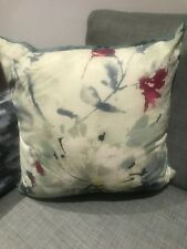 Blue Green Printed harlequin cushion covers X 3