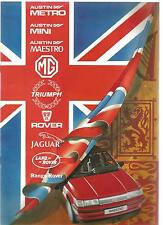 Catalogue brochure Katalog Prospekt AUSTIN ROVER TRIUMPH Année 1984 12 Pages