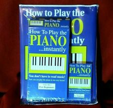How to Play the Piano Instantly 1996 VHS Audio Cassette Tape Book Combo Vol 1