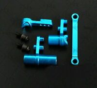 1/10 Scales RC Cars Blue Aluminum Steering Servo Saver Sets For HSP Truck Buggy