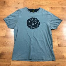 Pretty Green T Shirt Spell Out Blue Large