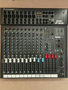 Soundcraft Spirit FX8 Mixer Lexicon with Power Adapter / Box / Instructions