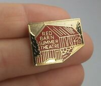 Vintage RED BARN SUMMER THEATRE pin button pinback *EE93