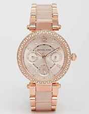 MICHAEL KORS MK6110 Chronograph Mini Parker Blush Rose Gold-Tone Watch
