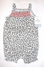 Infant Girls Carters One Piece Animal Print Romper - Size 6 mos. - NWT