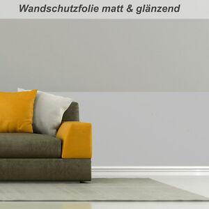 transparente Wandschutzfolie in matt oder glänzend als Laufmeterware
