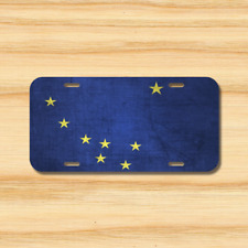 Alaska State Flag License Plate Vehicle Auto Tag Juneau Anchorage FREE SHIPPING