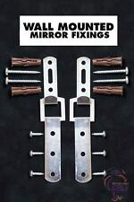 Heavy Duty Mirror Fixings Hooks Straps Fittings for a Solid Wall