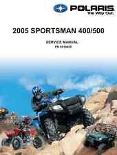 Polaris 2005 ATV Sportsman 400 500 service & repair manual in 3-ring binder