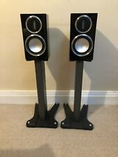 Monitor Audio Gold 50's 4th Gen in Piano Black with Monitor Audio Gold Stands