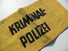 Armbinde KRIMINALPOLIZEI Kripo Binde für Einsatz Polizei ALT Polizei Uniform