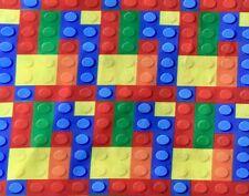 FQ LEGO BLOCKS BRICKS CHILDRENS TOY  FABRIC