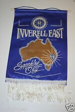 Vintage Sappphire City Australia Inverell East Rotary International Club Banner