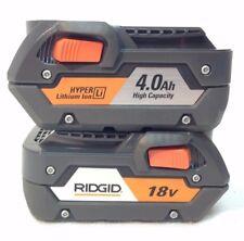 2 x RIDGID R840087 NEW 18V  AC840087 LI-ION BATTERY 4.0Ah High Capacity Hyper