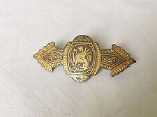 Ancienne Broche Damascène de Tolède Bijoux Collection Décor Dragon Chimère TBE