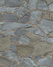 Marburg Novamur 81907 Steine Mauer Bruchstein 3D Grau Braun 6722-20