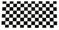 "Black White Checkered Race Advertising Vinyl Decal Bumper Sticker 3.75""x7.5"""