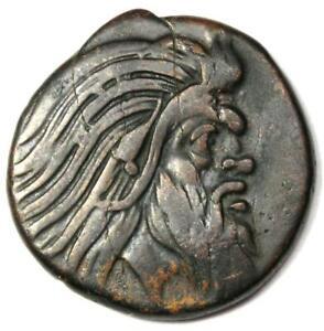 Greece Bosporus AE 20 Copper Coin (Pan, Griffen) 300 BC - XF Condition (EF)
