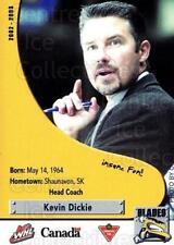 2002-03 Saskatoon Blades #28 Kevin Dickie