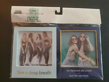 """(2) 2 Pack Magnetic Photo Frames 5.25"""" x 6"""" W/Logos for 4"""" x 4"""" Photos"""