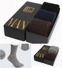 3Pairs Mens 100% Wool Cashmere Winter Thick Warm Comfortable Solid Casual Socks
