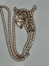9CT GOLD 24 INCH CURB CHAIN NECKLACE OVER 5g