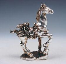 Plata Tibetana Cobre Crafted Escultura Miniatura BUG INSECTO FLY caballo Trasera