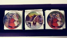 Vintage Collection of 3 Avon Christmas 8 Inch Plates with Boxes