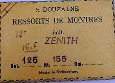 Mainspring Ressort Muelle Zugfeder Molla per ZENITH cal. 126