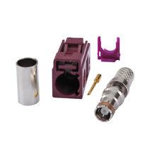 Fakra D Female Crimp Solder Rg58 Lmr-195 Rg400 Rg142 Cable Connector